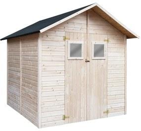 vidaXL Záhradná úložná kôlňa 226x248x218 cm drevená
