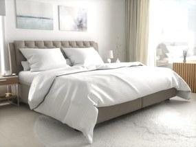 Hotelové obliečky atlas grádl biele - prúžok 2 cm mykaná bavlna