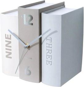 KARLSSON Stolné hodiny Book šedé