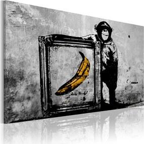 Obraz - Inspired by Banksy - black and white 90x60