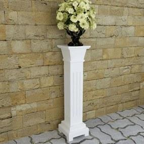 vidaXL Klasický stĺpový stojan na kvety so štvorcovým MDF podstavcom
