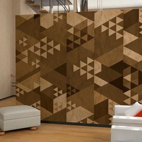 Tapeta Bimago - Brown patchwork + lepidlo zadarmo rolka 50x1000 cm