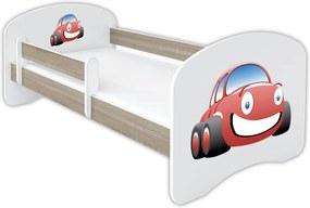 OR Posteľ Mery svetlá hruška - viac variantov Motív: K - Autíčko, Variant úložný box: Bez úložného boxu, Rozmer lôžka: 140x70
