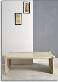 Bighome - Konferenčný stolík HYGHPAP 130 cm - krémová
