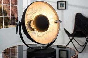 Stolná lampa Studio 40cm čierna- strieborná