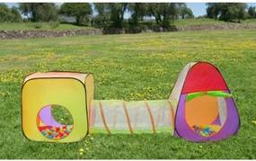 2880 Malatec Detský stan a hrací domček s tunelom vrátane 200 loptičiek ( MALATEC )