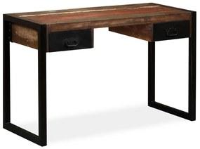 vidaXL Stolík z regenerovaného dreva s 2 zásuvkami, 120x50x76 cm