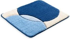 Škodák Kúpeľňová / WC predložka - vzor Shadow modrá - 60x50cm