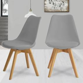 2ks Jedálenská stolička NORDICA - sivá