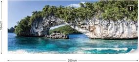 Fototapeta GLIX - Island Beach + lepidlo ZADARMO Vliesová tapeta  - 250x104 cm