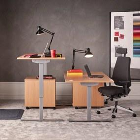 Výškovo nastaviteľný stôl Flexus, rovný, 1200x800 mm, buk