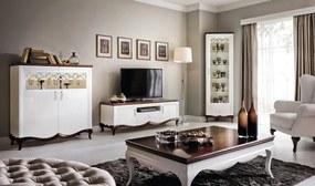 TARANKO Milano rustikálna obývacia izba biela / mahagón