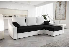 Pohodlná sedačka OMNIA - biela / čierna