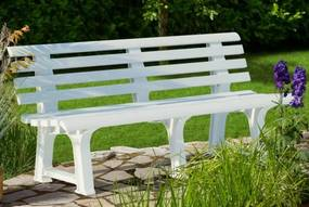 InternetovaZahrada - Záhradná lavica Orchidea biela