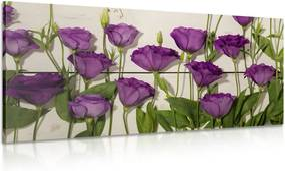 Obraz nádherné fialové kvety