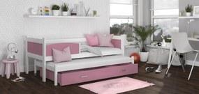 GL Swing P2 biela Color s prístelkou 184x80 MDF Farba: Ružová