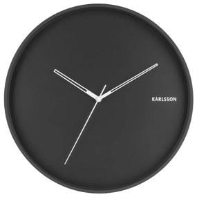 Čierne nástenné hodiny Karlsson Hue, ø 40 cm