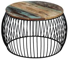 vidaXL Konferenčný oválny stolík z recyklovaného dreva, 68x43 cm