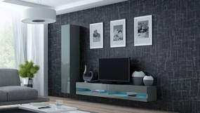 Obývacia stena Vigo NEW 9 (sivá/sivý lesk lesk)