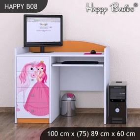 Písací stôl Happy Orange B08