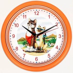 Nástenné hodiny Mačiatka