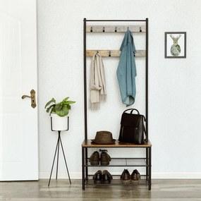 Štýlová predsieňová stena Clothes Rack rustic
