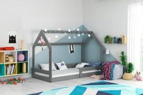 Domčeková posteľ DOMČEK (bez zásuvky) 160x80cm - Grafitová