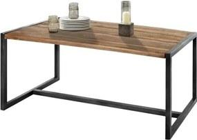 Sconto Jedálenský stôl SPRING akácia/kov