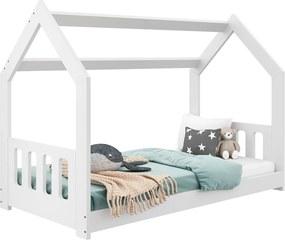 AMI nábytok Detská posteľ DOMČEK D2C 80x160cm masív biela