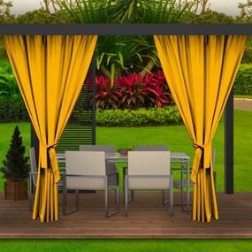 Záhradný záves žltý