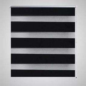 vidaXL Roleta vzor zebra, 90 x 150 cm, čierna