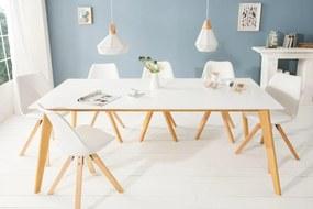 Dizajnový jedálenský stôl Sweden, 160 cm, biely