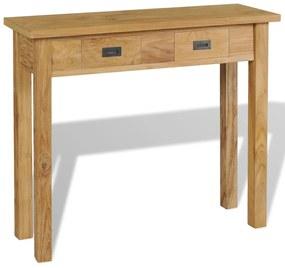 vidaXL Konzolový stolík z masívneho teakového dreva, 90x30x80 cm