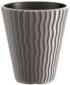 PlasticFuture Květináč Small Sandy šedý
