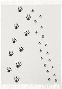 Bighome - Koberec stopy Neo Black White - viacfarebná