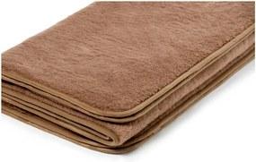 Hnedá deka z ťavej vlny Royal Dream Chocolate, 140 × 200 cm