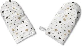 Sada 2 vianočných bavlnených chňapiek Butter Kings Stars Wreath