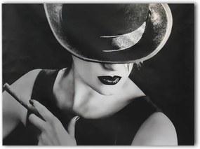 Styler Obraz na plátne - Dáma s cigaretou 60x80 cm