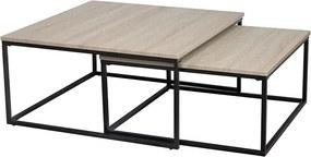 TEMPO KONDELA Kastler Typ 1 konferenčný stolík (2 ks) čierna / dub sonoma