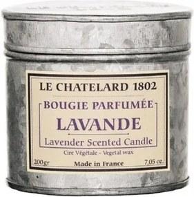 Le Chatelard Sviečka v zinkovej krabičke s viečkom Levanduľa 200 g