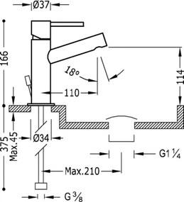 MAX-TRES Umývadlová jednopáková batéria (06210301D)