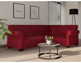 ERVI PLAS Napínací poťah na rohovú sedačku – Alfredo vínový 100 až 140 cm - 200 až 240 cm