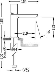 TRES - Jednopáková umyvadlová baterie (20010302VID)