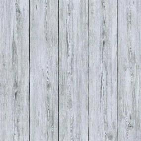 Vliesové tapety na stenu IMPOL TRADE Attitude 56210, rozměr 10,05 m x 0,70 m, drevené dosky sivé, Marburg