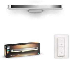 Philips HUE White Ambiance 34177/11/P6 Adore Kúpeľňové nástenné LED svietidlo 40W/3000lm 2200-6500K chróm Bluetooth
