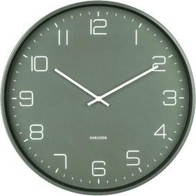 Zelené nástenné hodiny Karlsson Lofty, ø 40 cm