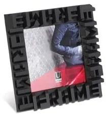 Fotorámik TYPO FRAME 13x13cm, čierny, Umbra, Drevo, 13 x 13cm, Čierna