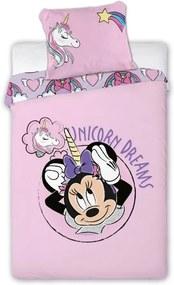 Obliečky Minnie Mouse Unicorn 140 x 200 + 70 x 90 cm FARO