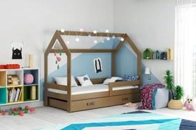 Domčeková posteľ DOMČEK 160x80cm - Čokoláda - Čokoláda