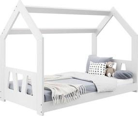 AMI nábytok Detská posteľ DOMČEK D2A 80x160cm masív biela
